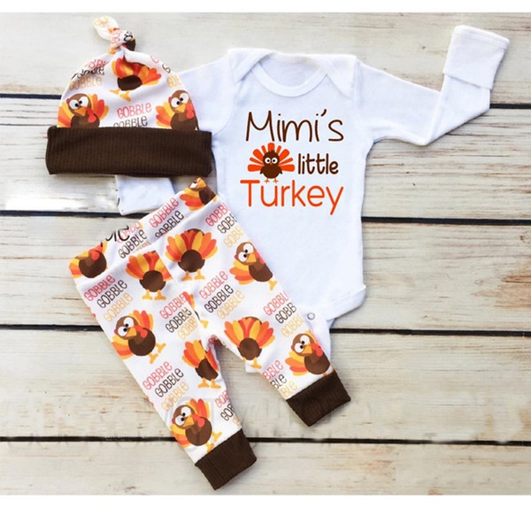 2018 New Arrivals Baby Girls Clothing Sets Spring Autumn Toddler Rompers+Pants+Hats 3pcs Set Kids Little Bird Outfits Girl Suit 70-100cm