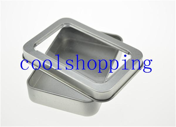 DHL Freeshipping open window Metal Storage Boxes with sponge Storage Box, Vintage Metal case 8.8*6*1.7cm
