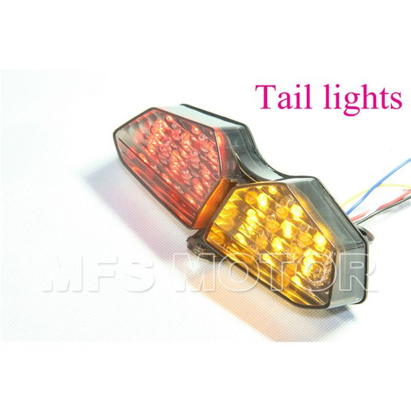 Motorcycle parts LED Tail Brake Light For Yamaha YZFR6 R6 2003 2004 2005 YZF-R6S R6S 2006 2007 2008 smoke
