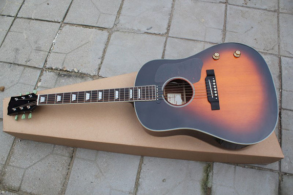 best selling Custom guitar shop, classical music instrument 160E acoustic electric guitar,OEM logo,solid spruce top,made in China