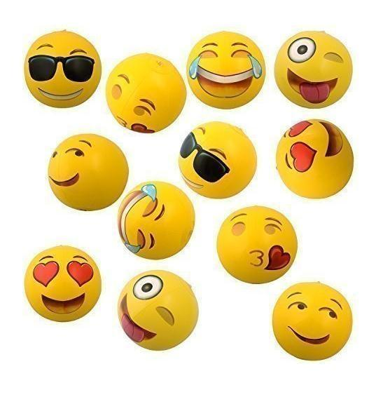 """500pcs Beach Ball Inflatable PVC Emoji Ball For Adults Kids 12"""" Family Holiday Summer Party Favors Swimming Pool Toys c015"""