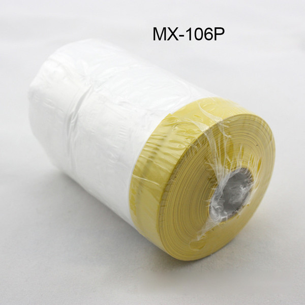 0.55mx30m/Roll Plasti Dip spray rubber paint dust protection film PVC clear Automotive paint Pre-taped Masking Film MX-106P