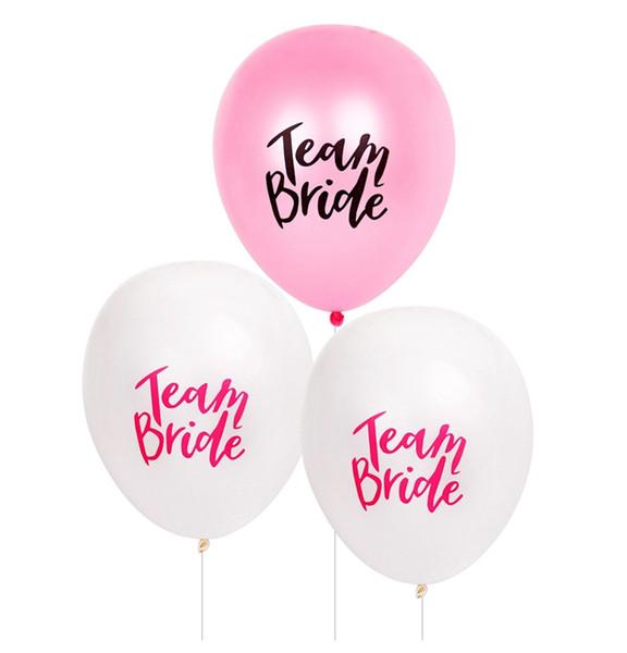 100pcs squadra sposa alfabeto lettera palloncini palloncini matrimonio in lattice decorazione di nozze palloncino festa nuziale doccia favori