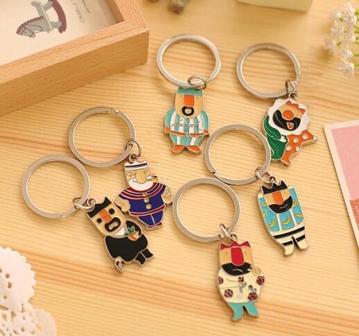 NEW Hot Cartoon movie Key Chain Vintage fairy tale The Emperor's New Clothes Alloy keychain wedding favors keychan cc41
