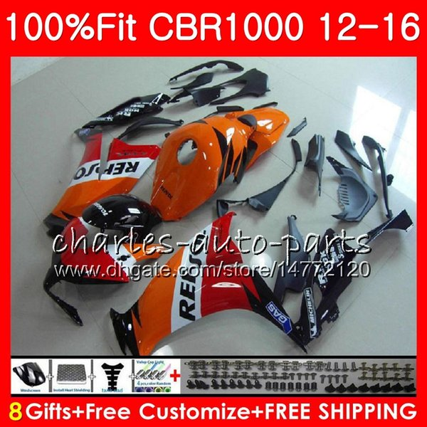 Injection For HONDA CBR1000 RR CBR 1000 RR 12 16 Repsol orange 88NO45 CBR 1000RR 12 13 14 15 16 CBR1000RR 2012 2013 2014 2015 2016 Fairings