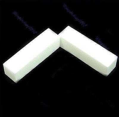 Wholesale-407-50 X White Nail Art Buffer Buffing Sanding Files Block