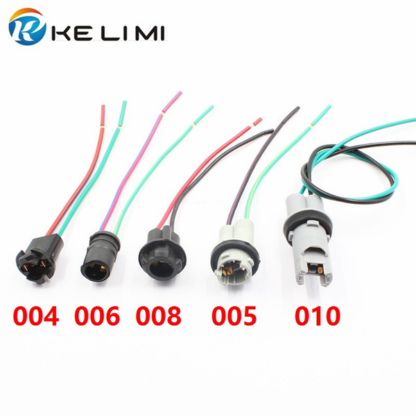 best selling Car Truck Xenon LED Light Bulb Holders Socket Connector plugs Pre-wired adapter Pig Tale harness T10 W5W 194 168 T15