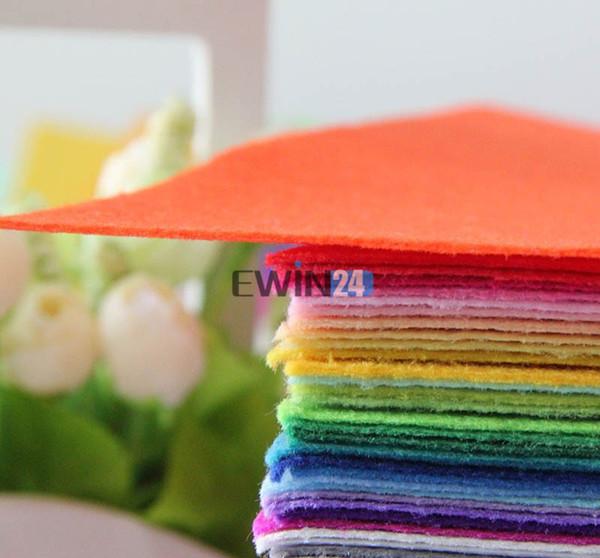 40 colores 30 CM * 30 CM Poliéster tela no tejida de fieltro Tela de fieltro DIY Paquete de tela 1 MM de espesor 40 unids / lote