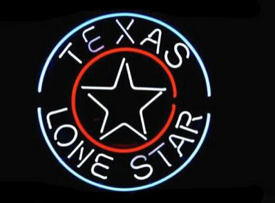 "Texas Lone Star Neon Sign Beer Bar KTV Club Pub Custom Handcrafted Real Glass Tube Advertisement Display Neon Signs 16""X16"""