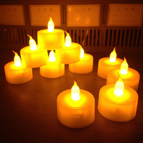 DHLfree ship1440pcs/lot Flickering Flameless LED Tealight Flicker Tea Candle Light Xmas Party Wedding Candles Safety Home Decoration HP131
