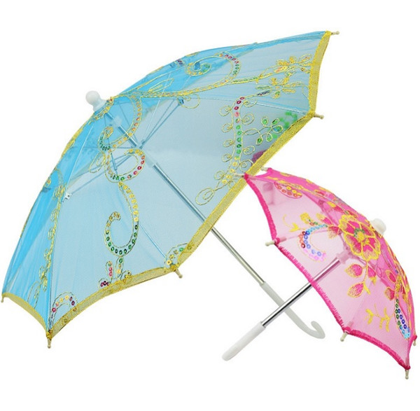 Mini Small Umbrella Children Dancing Props Craft Lace Embroidery Umbrella Stage Performance Party Gifts Souvenir wen4735