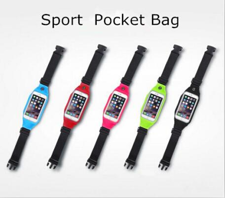 Cell Phone Cases Waist Bag Belt Pack Sport Pocket Waterproof Running Bum Bags For iPhone 6S/6/6 PLUS Transparent Touch Screen Window 300up