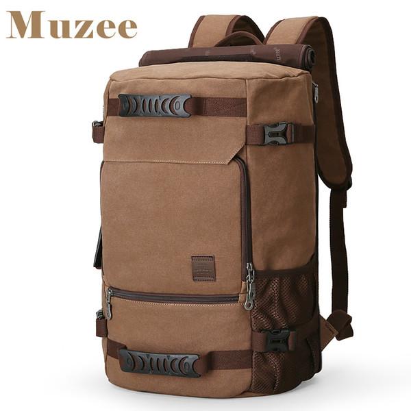 Nouveau sac à dos pour hommes MUZEE Sac à dos en toile grande capacité