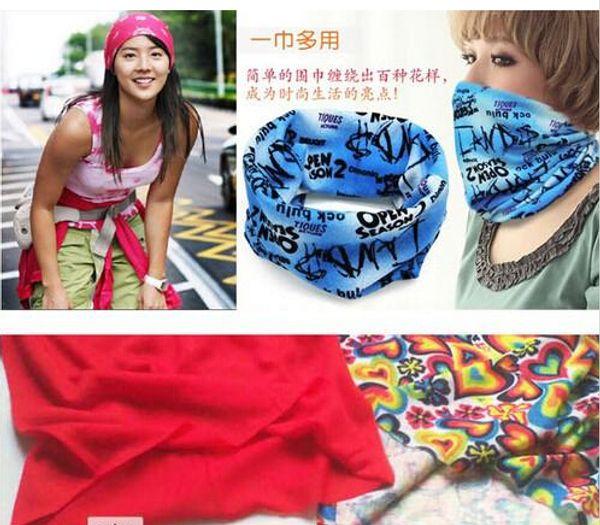 Bandanas Headwear Magic multifonctionnel sans couture multifonction Outdoor Head écharpe cyclisme hip-hop absorbant ultraviolet-résistant 50 * 24 cm 100 pcs