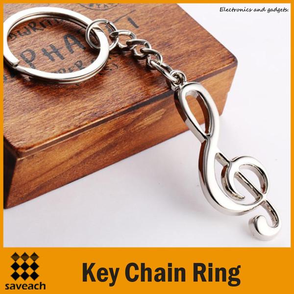 Schlüsselring Schlüsselanhänger versilberter Schlüsselbund mit Musiknote für Auto-Metall-Musiksymbol-Schlüsselanhänger