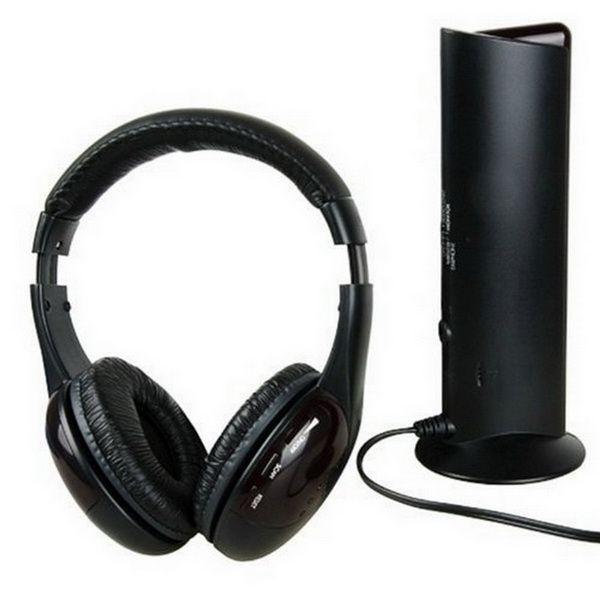5 in 1 DJ Gaming HiFi Wireless Headphone Earphone Headset FM Radio Monitor MP3 PC TV Mobile Phones Headphones DHL