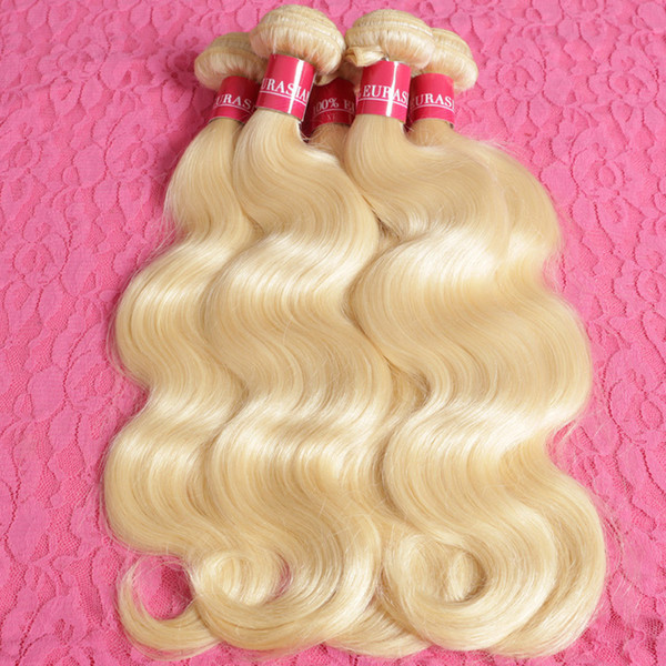 Affordable Blonde Human Hair Bundles Body Wave Virgin Peruvian Hair Weaves Color 613 Honey Blonde Wavy extensiones de cabello For Sale