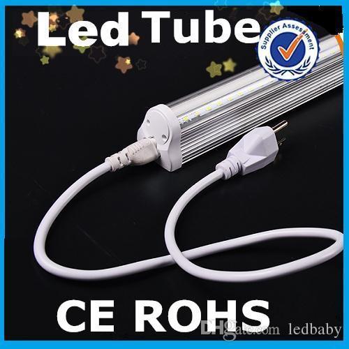 2015 neueste T8 Led Röhren Lichter Mit Us-stecker 1,5 mt Kabel 22 Watt 4FT Integrierte T8 Led Leuchtstoffröhren Lampe Warm / Natrual / Kaltweiß AC 85-265 V