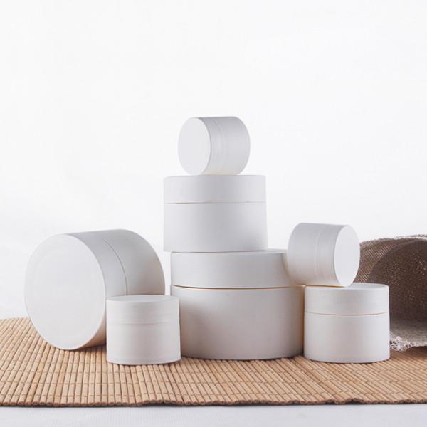 Alta calidad 15g 30g 50g tarros de crema cosméticos de plástico blanco con tapa de la loción vacía Batom Container Sample Packaging Bottles