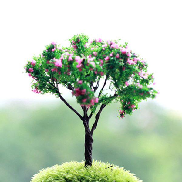 20pcs/lot artificial trees plants Ornament fairy garden miniatures gnome moss terrarium decor resin crafts bonsai home decor for DIY Zakka