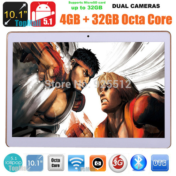 10.1 Inch Tablet PC 3G Call Eight nuclei IPS Screen. 32GB Hard Disk Bluetooth WiFi