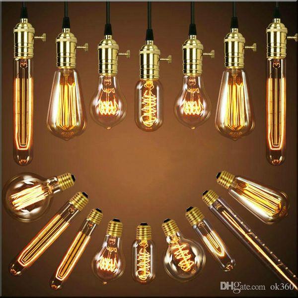 Edison Chandelier Bulb Edison Antique Bulb Aka Carbon Filament Lamp Silk Bulb Lamp Antique Lamp Light Edison Light Bulb Incandescent Bulbs Led Night