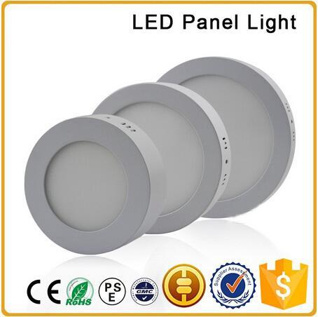 Diodo emissor de luz Montou a luz de painel 6W 12W 18W AC85-265V Diodo emissor de luz redondo smd 2835 lado downlight com alumínio e placa de guia clara acrílica