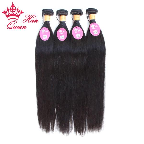 Rainha cabelo Indiano cabelo virgem Em Linha Reta 4 pcs muito 8