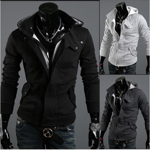 Fall-Hot marca de moda sudadera con capucha para mantenerse caliente de la nueva marca de los hombres de la chaqueta de algodón con capucha Warm Jacket Collar Warm Hat hombre WT08