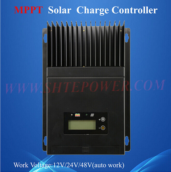 mppt control 60a ce rohs solar charge controller 12v 24v 48v auto work voltage with lcd