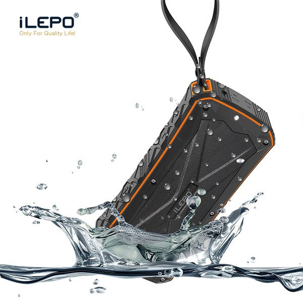top popular iLEPO IP65 Waterproof Bluetooth Speaker With 4500mAh Dual 8W Output Power Bank Function Subwoofers Portable Wireless Speaker 2019