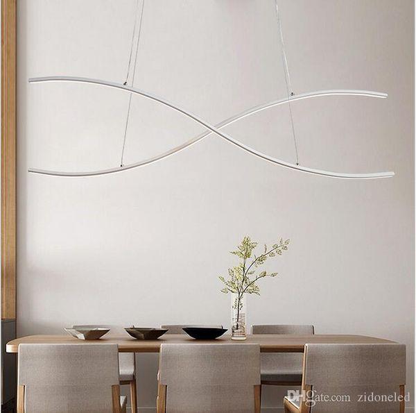 modern minimalism led pendant lamp aluminum hanging chandelier indoor lighting fixture for dining kitchen room bar lamparas colgantes
