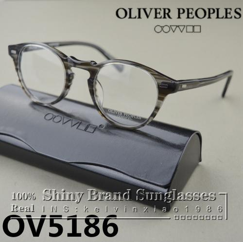 Wholesale-HOT 2015 Oliver Peoples glasses OV5186 fashion Vintage optical myopia eyeglasses for women and men eyewear frame free shipping
