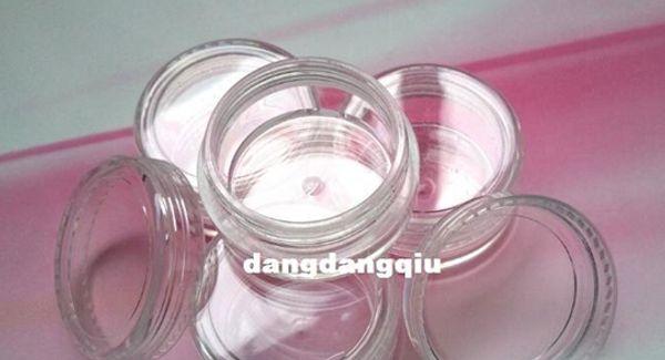 top popular Wholesale-Free Shipping 80pcs Lot Nail Art Glitter Dust Powder Empty Case Box Clear Pots Bottle Container 3g 3gram Jar nails & tools 2019