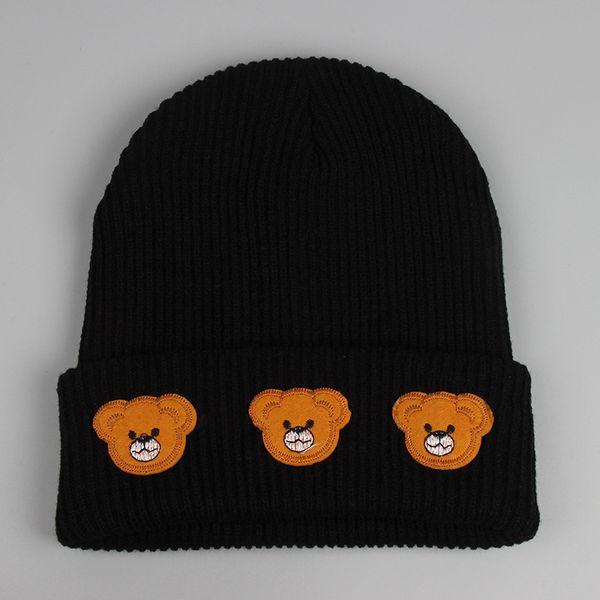 Little Bear Beanie Hats Fashion Cartoon Beanies Winter Hat Men Women Cap Knitting Pattern Skull Caps free shipping