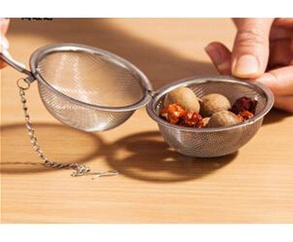 DHL Bester Preis 200 teile / los Edelstahl Teekanne Infuser Kugel Mesh Sieb Ball 5 cm Kostenloser versand