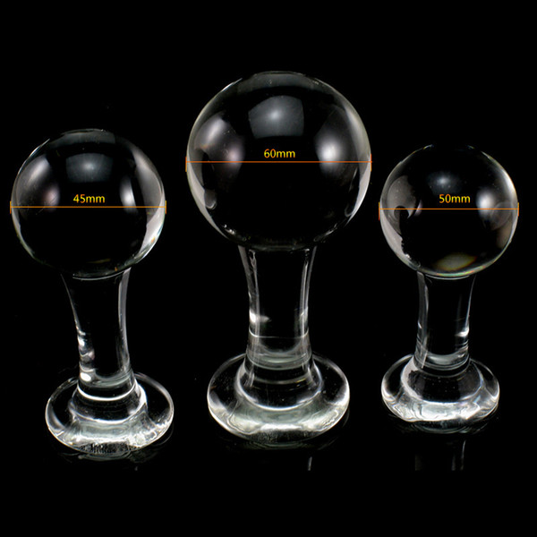 3PCS Rotundity Anal Butt Glass Crystal Dildo Pendrive Arge Sex Toys Masturbation Glassware Sex Tools Shop For Female Man Gay