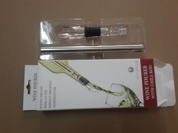 top popular 30pcs lot Fast shipping Eco-Friendly Stainless steel Ice Wine Chiller Wine Cool Cooling Stick Cooler,20pcs lot 2021