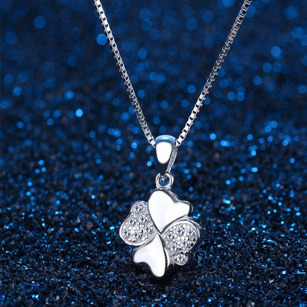 Wholesale Sterling Silver Pendant Lucky Rose Gold Necklace Chain