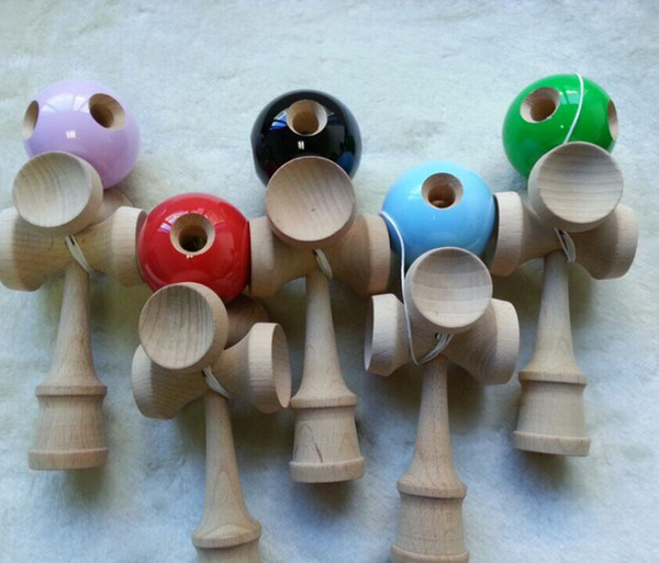 20cm 5 Holes 5 Cups Kendama jumbo Kendama Ball Toy Japanese Traditional Wood Game Toy PU Paint & Beech For Child Adult