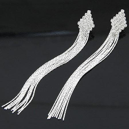 2015Fashion gold plated chain tassel dangle alloy drop earrings women's ear hoops