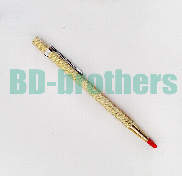 Gold Color Diamond Glass Pen Cutter Lettering Carbide Tipped Scriber Engraving for Phone Tablet PC Glass Screen Cutting 100pcs/lot
