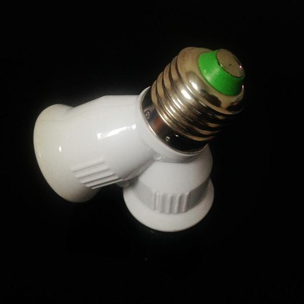 10pcs E27 para 2xE27 LED Light Lamp Lâmpada Adapter Converter Splitter Holder