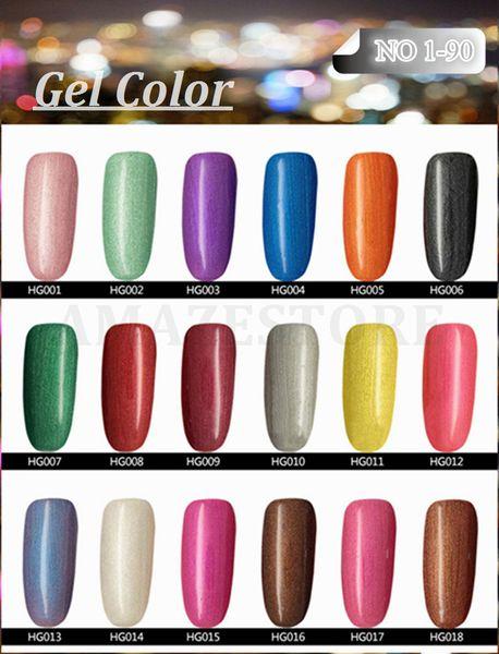 Artículo más caliente Gelish Nail Polish Soak Off Nail Gel para Salon UV Gel 233Colors 15ml supply, envío gratis