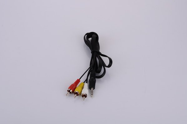 3.5mm jack 3 RCA ses video AV adaptör kabloları 112 CM 3 in 1 ses kablosu DHL Fedex Ücretsiz kargo