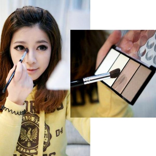Four Color Pressed Powder Highlight And Contour Powder Shading Make-up Cosmetic # M01077