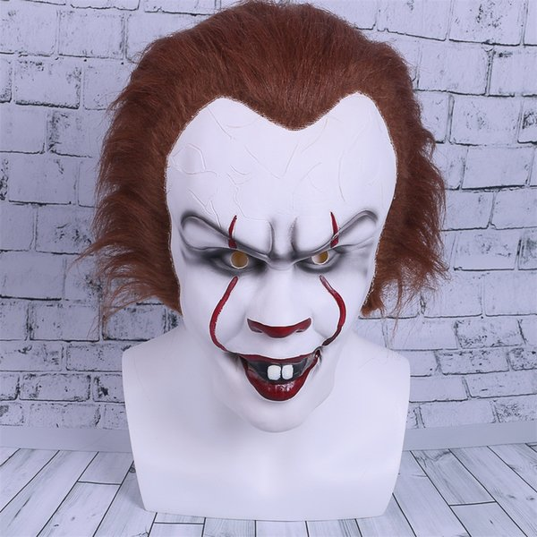 2017 Movie Stephen King's It Cosplay Mask Penny wise Clown Helmet Halloween and Christmas Party Mask Props