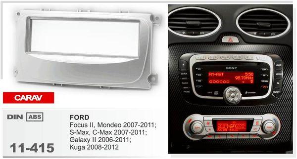 CARAV 11-415 Top Quality Radio Fascia for FORD Focus II, Mondeo, S-Max, C-Max Stereo Fascia Dash CD Trim Installation Kit