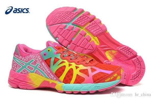 Cheap Asics Cushion Gel Noosa Tri 9 Sports Running Shoes For Women, Lightweight Racing Trainer Blue Pink Etc Sneakers Eur Size 36 40 Sale Shoes Men