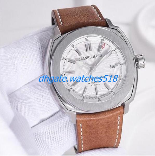 Новый 3 Цвет JeanRichard 44 мм Automaitc мужские часы уникальный дизайн и стиль, который является одновременно спортивные наручные часы